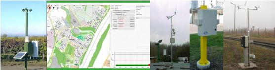 Environment monitoring stations and systems